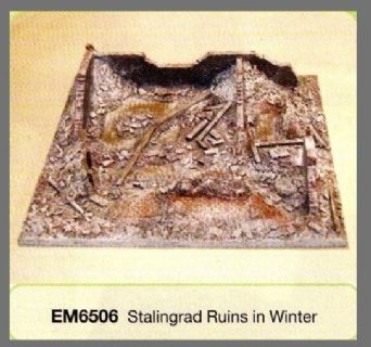 Conflix Painted 15mm/20mm Terrain EM6506 Stalingrad Ruins (Winter)